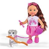 Cumpara ieftin Papusa Simba Evi Love 12 cm Holiday Friend cu catelus si accesorii