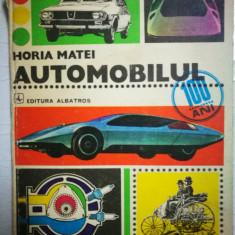 Carte auto Automobilul - Horia Matei, 1977,