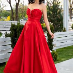 Rochie LaDonna rosie lunga de seara, S