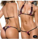 Mini Costum Set Bikini Sutien Bretele Invizibil Asistenta Lady Lust Sexy