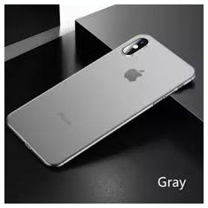 Husa cu spate transparent Hard Case For iPhone XS Max Gray