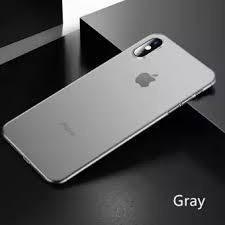 Husa cu spate transparent Hard Case For iPhone XS Max Gray foto