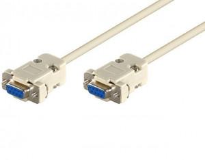 Cablu OEM DSUB 9FF/2,0-BU serial RS232 D-SUB 9 pini mama la D-SUB 9 pini mama 2 m