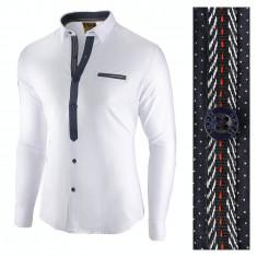 Camasa pentru barbati, alba, slim fit, casual - Leon Special, L, M, S, XL, XXL