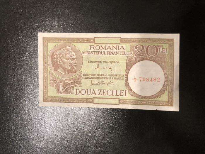 20 lei 1947 Alexandrini / Panait - Fil 6 MF