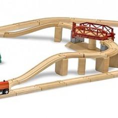 Set Trenulet din lemn cu pod pivotant Melissa&Doug