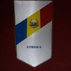 fanion vechi ROMANIA Nou/cartonat 1986,TABARA INTERNATIONALA A ELEVILOR R.S.R,