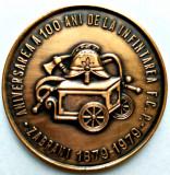 MEDALIE ANIVERSAREA 100 ANI DE LA INFIINTAREA FCP ZABRANI 1879 1979 POMPIERI MI