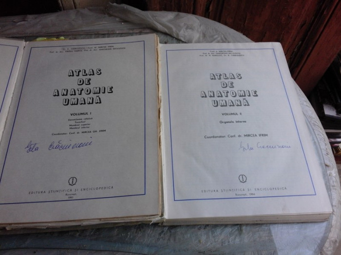 ATLAS DE ANATOMIE UMANA - MIRCEA IFRIM VOL.I+II