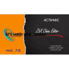 Activare China Editor pentru Z3X si Z3X Easy Jtag