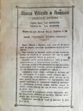 Cumpara ieftin reclama Banca Viticola a Romaniei, 1922,  16 x 23 cm, ag. Dragasani, Focsani