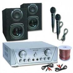 Electronic-Star HIFI SET HVA 200 + 130 + MC 2 microfoane - Karaoke 1