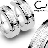 Cumpara ieftin Cercei din oțel inoxidabil - fâșie decorativă argintie