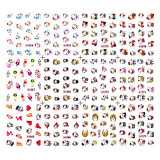 Stickere Unghii pe Baza de Apa (12 seturi) 1065 - 1076 (Abtibilduri Unghii Desene Animate - Tatuaje Unghii)