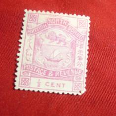 Timbru 1/2C roz Nord Borneo Colonie Britanica 1886, fara guma
