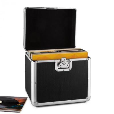 Resident DJ Timp Resident DJ placă de aluminiu capsulă valiză vinil LP dosarului 70 buc negru foto