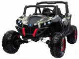 Cumpara ieftin Buggy electric pentru 2 copii Premier 4x4 Superstar, cu 2 baterii, roti cauciuc EVA, scaun piele ecologica, camuflaj