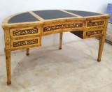 Birou semicerc din lemn masiv furniruit CAT-AD-Desk, Birouri si secretari