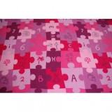 Covor copilăresc Puzzle violet, 200x300 cm