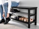 Panatofar - suport de pantofi cu banca - 108 cm - Negru - Nou