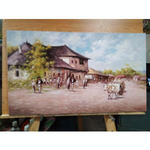 Tablou Carciuma la Rucar reproducere N.Grigorescu, pictura ulei