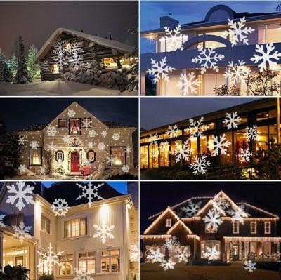Proiector LED efect fulgi albi de zapada, 4W, metalic, IP64 foto