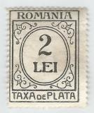 România, LP IV.13b/1924, Taxa de plată, h. verde-galbuie, f. filig., eroare, MNH, Nestampilat