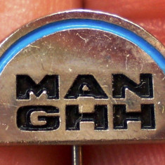 I.609 INSIGNA STICKPIN GERMANIA AUTO AUTOCAMION MAN GHH L14mm