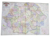 ROMANIA, Harta Administrativa intocmita de Gen. Const. Teodorescu, 1939