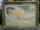 Nud de femeie// pastel pe hartie