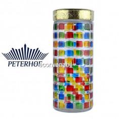 Recipent condimente din sticla pictata cu capac Peterhof PH10037 2.2L