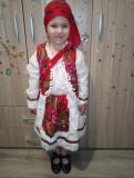 Costum popular fetite Maria format din 5 piese ( 8 ani si 12 ani )