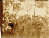 Fotografie ofiteri romani aviatie si civili anii 1940 poza veche