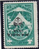 1934 LP 107 g JAMBOREEA SUPRATIPAR MAMAIA EROARE SUPRATIPAR RASTURNAT, Nestampilat