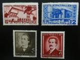 Romania LP 129+130 , Expozitia internationala + M. Eminescu , MH/*