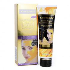 Masca de fata exfolianta cu Aur Colagen si Extract de Caviar Kiss Beauty Gold Mask 120 g