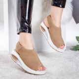 Sandale Piele Codina bej cu talpa ortopedica -rl