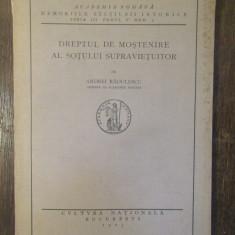 DREPTUL DE MOSTENIRE AL SOTULUI SUPRAVIETUITOR-ANDREI RADULESCU