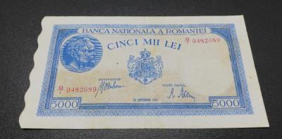 ROMANIA 5000 lei Septembrie 1943 foto