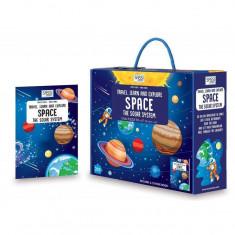 Puzzle 205 piese cu carte - Spatiul cosmic