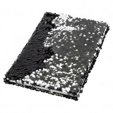 Caiet A5 dictando 96 file coperta cu paiete reversibile
