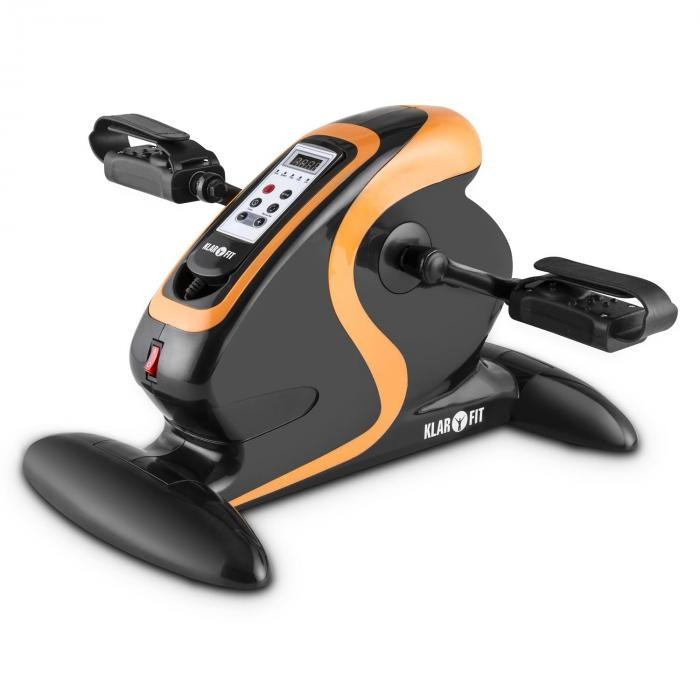 KLARFIT Cycloony Mini Bike, bicicletă pentru fitness, cu motor, 120 kg, telecomandă, negru