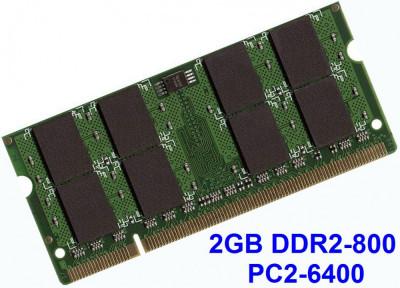 2GB DDR2-800 PC2-6400 800MHz , Memorie LAPTOP DDR2 , Testata cu Memtest86+ foto
