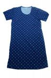Camasa de noapte pentru gravide Vienetta 4451, Bleumarin