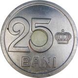 Romania, 25 bani 1921 aUNC_gaura 4 mm * cod 5