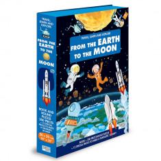Puzzle 200 piese cu carte - Pamant si Luna