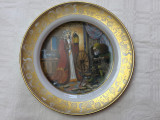 Farfurie din portelan german FRANKLIN, scena din basmul Fratii Grimm, Farfurii