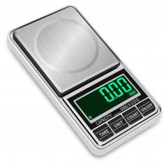 Cantar portabil pentru bijuterii Yago TSC500 de mare precizie cu husa de piele