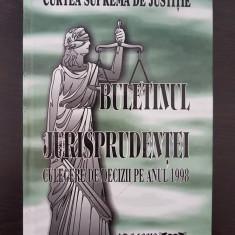 CURTEA SUPREMA DE JUSTITIE BULETINUL JURISPRUDENTEI CULEGERE DECIZII ANUL 1998