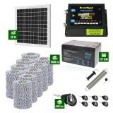 Pachet Gard electric 6,6j putere cu Panou Solar si 9000m de fir 120Kg